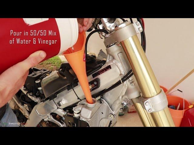 Ep 4: 2018 CRF450R RACE BIKE BUILD (RADIATOR FLUSH & PROTECTION)