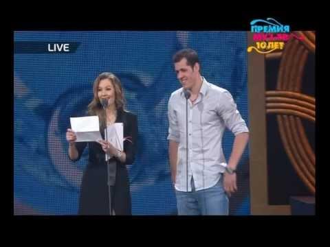 Мария Кожевникова и Евгений Малкин на премии Муз-тв