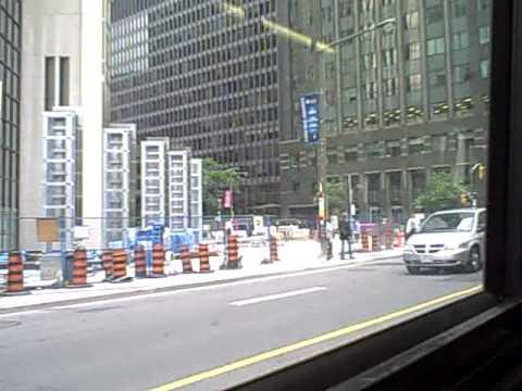 Toronto, Ontario. Bay Street Bus.