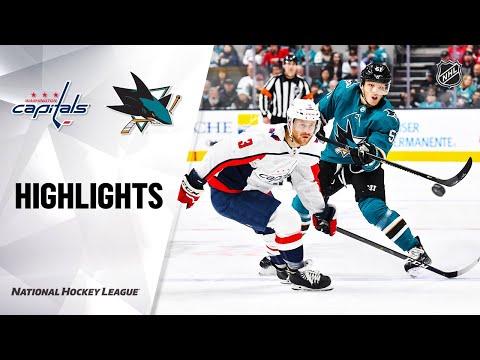 NHL Highlights | Capitals @ Sharks 12/3/19