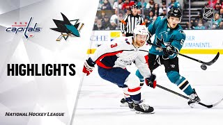 NHL Highlights | Capitals @ Sharks 12/3/19