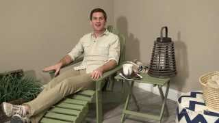 Coral Coast Sage Green Painted Acacia Adirondack Ottoman - Product Review Video