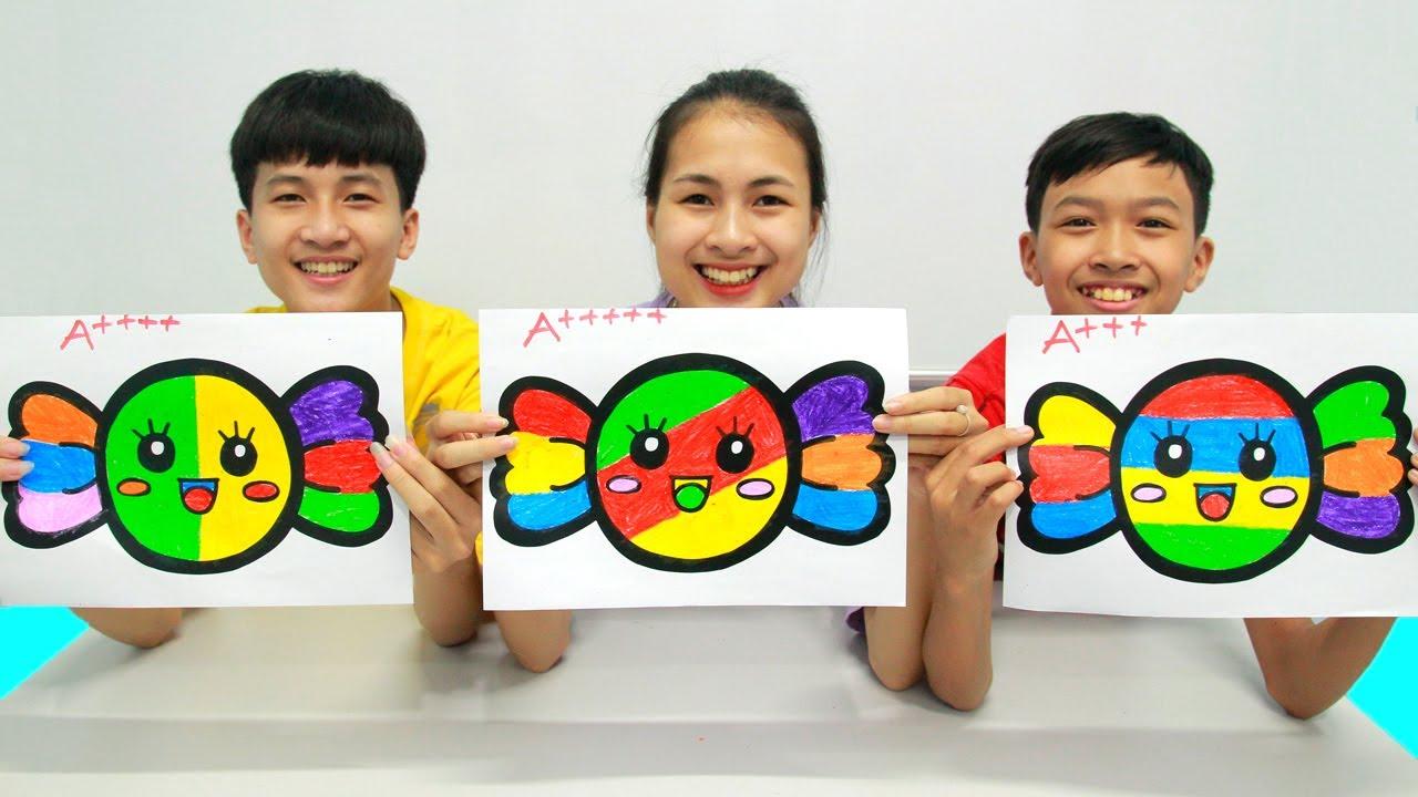 Rainbow Candy Warna Warni Belajar Menggambar dan Mewarnai untuk Anak