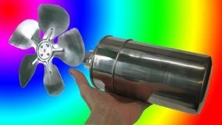 ДВИГАТЕЛЬ СТИРЛИНГА С ВЕНТИЛЯТОРОМ STIRLING ENGINE Eco Fan Thermal Lag Engine ( ИГОРЬ БЕЛЕЦКИЙ )