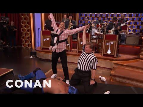 New Dad Andy Samberg's Epic CONAN Entrance  - CONAN on TBS