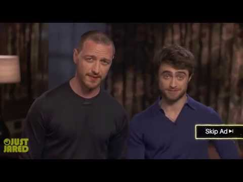 Daniel Radcliffe & James McAvoy Film Funny Skippable Ads for