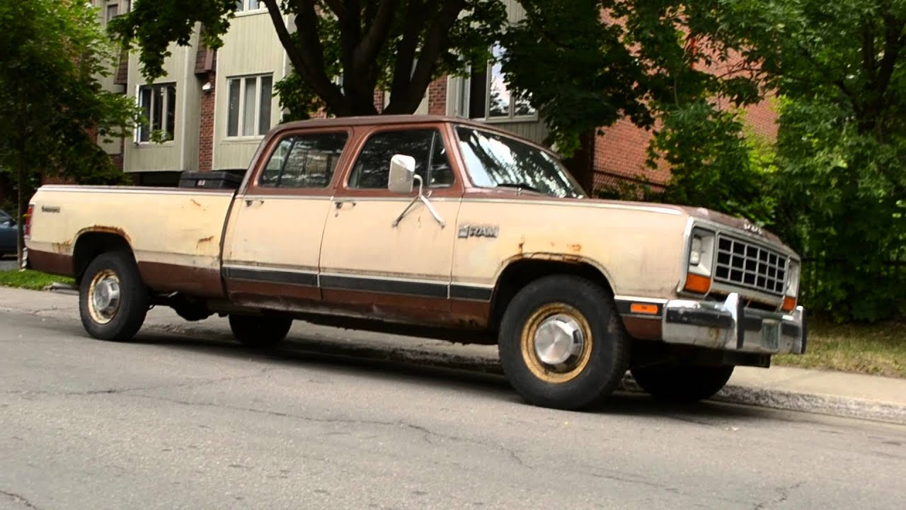 Scarce 1982 dodge ram crew cab pick up