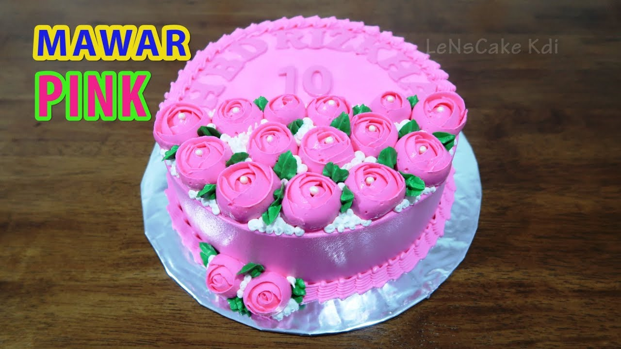 Decorating Birthday Cake For Girls Roses Flowers Pink Cake