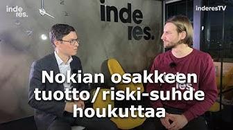 Nokian osakkeen tuotto/riski-suhde houkuttaa