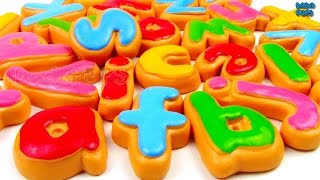 Learn Alphabet with biscuit|abcdefghijklmnopqrstuvwxyz song|Learn ABCD with cookies|A for Apple thumbnail