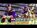 Madden 19 Gameplay (PS4) | First Impressions (VIKINGS vs SAINTS)