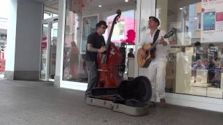 Музыканты в г.Фрайбург (Германия). Wonderful World (Sam Cooke song).