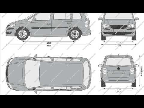 volkswagen touran dimensions - YouTube