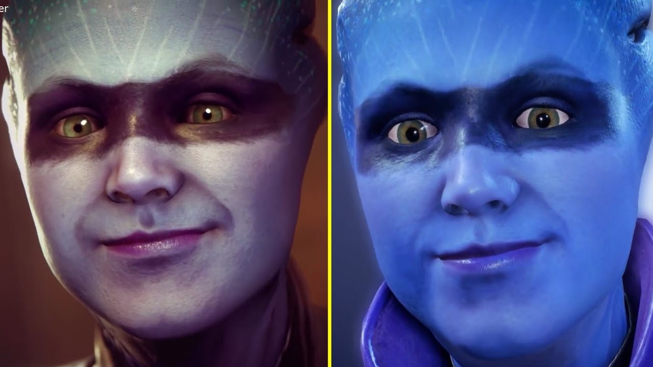Image result for mass effect andromeda e3 vs release