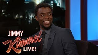 Jimmy Kimmel Grills Chadwick Boseman About Avengers by : Jimmy Kimmel Live