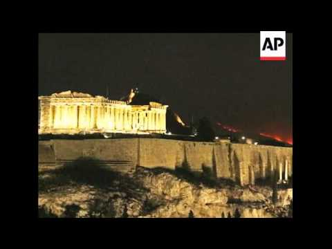 Massive wildfire outside Athens contained; media blast government response