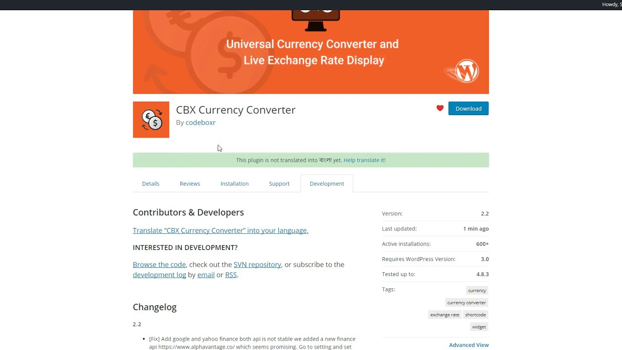 CBX Currency Converter – WordPress plugin | WordPress org