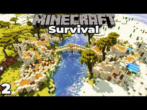 BUILDING PILLAGER DEFENCES : Minecraft 1.14 Survival Let's Play #2 : Building with fWhip