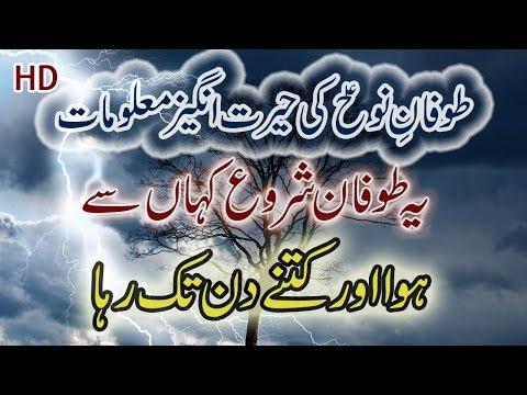 Toofan e Nooh as,Nooh Alihis Salam ki qoum per pani ka azab Storm of Nooh in urdu.documentary of nuh