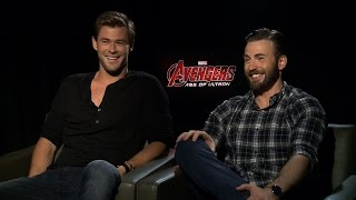 AVENGERS AGE OF ULTRON Cast Interviews: UNCENSORED