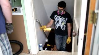 Asbestos Kitchen Floor Removal Demo_1