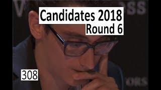 Candidates 2018: Round 6 with Caruana-Grischuk!