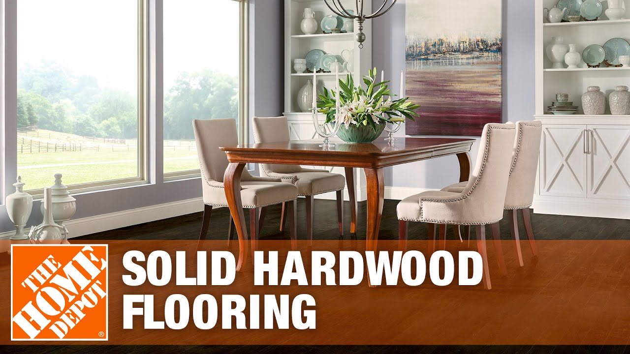 Bruce Plano Marsh Solid Hardwood Flooring - The Home Depot - YouTube