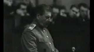 Речь Сталина в конце войны