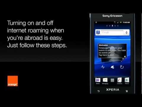 Help | Roaming - Sony Ericsson Xperia Ray | Orange UK
