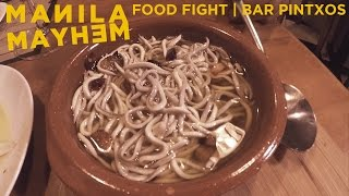 Trying Angulas (Baby Eels) For the FIRST TIME - FOOD FIGHT | Pintxos Bar