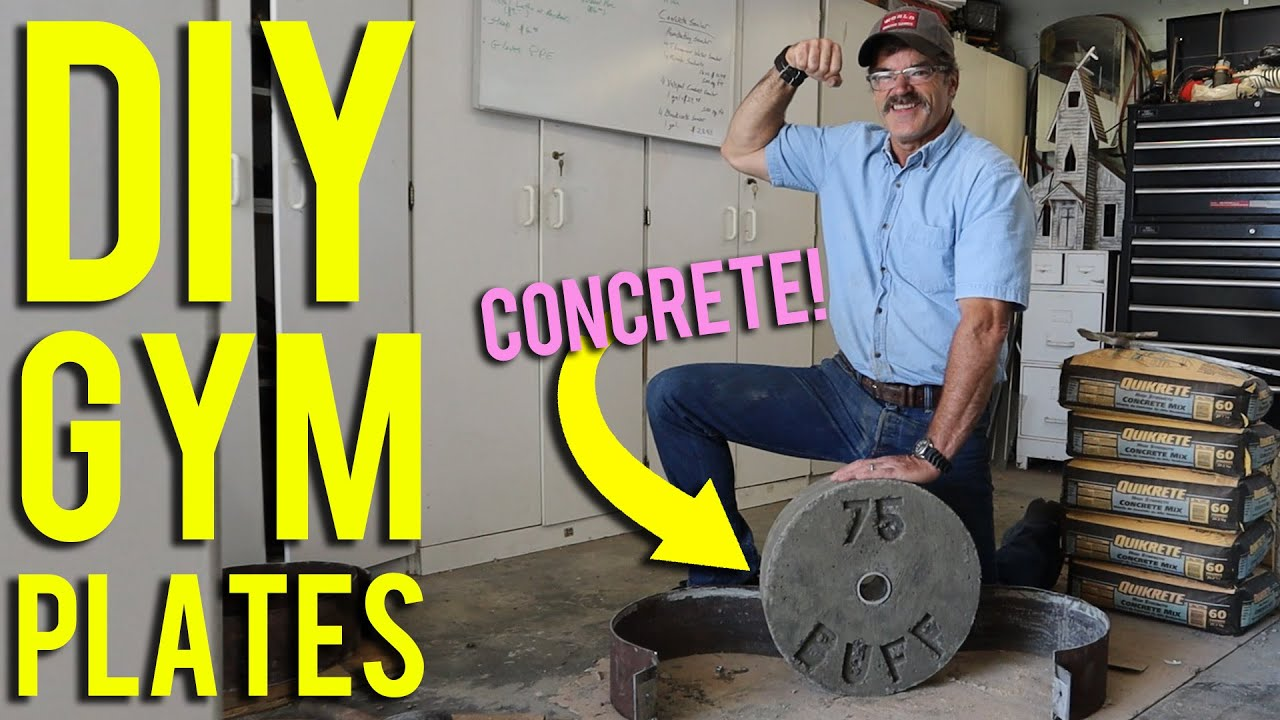 How to Make Homemade Gym Weight Plates from CONCRETE | DIY Duke