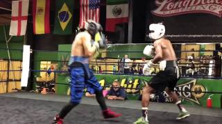 Top amateur boxers sparring NO JOKE SKILLS - EsNews boxing