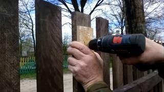 Обрезка штакета Trimming of the fence