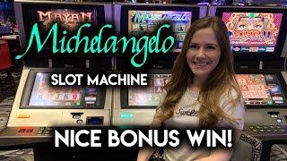 Michelangelo Slot Machine!! Unique BONUS!! Nice WIN!!