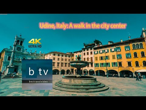Udine, Italy: A Walk In The City Center In 4K From Bestravelvideo.com