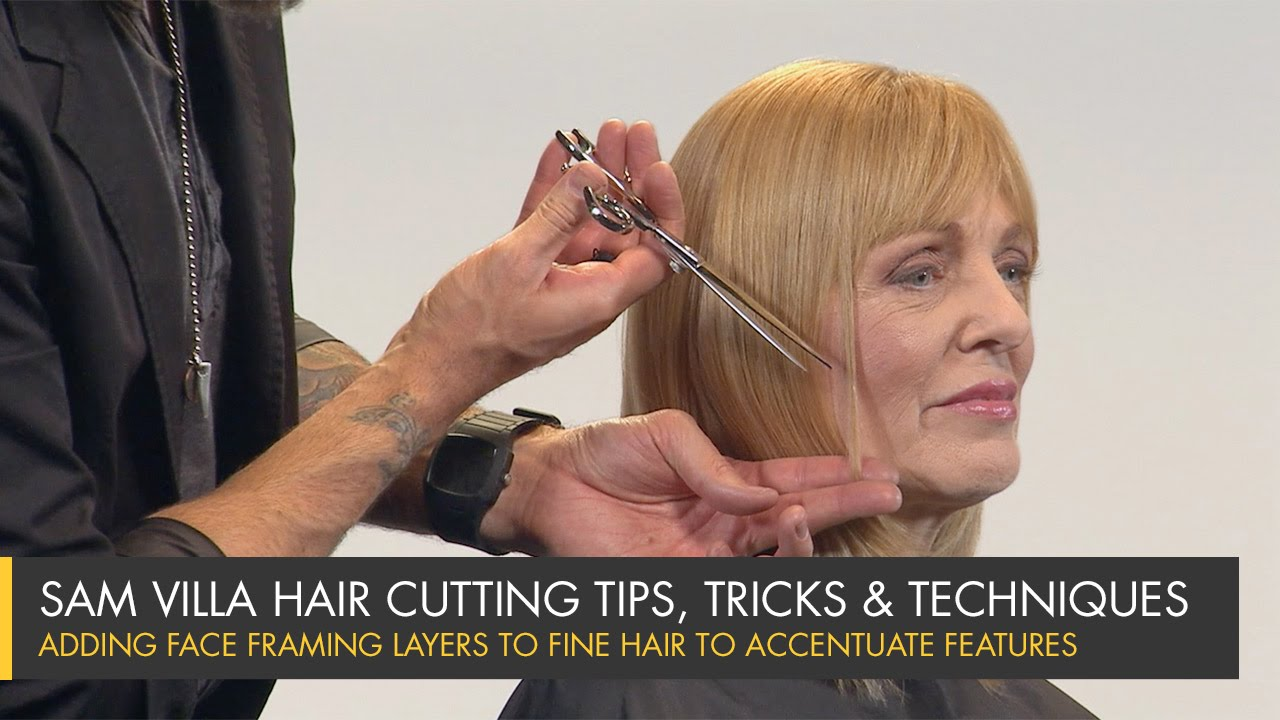 Adding Face Framing Layers To Fine Hair To Accentuate