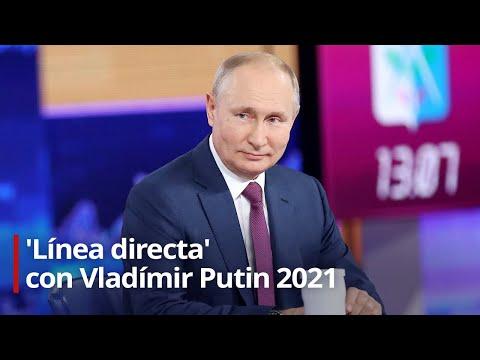 Putin responde a las preguntas de los ciudadanos rusos en su 18.ª 'Línea directa'