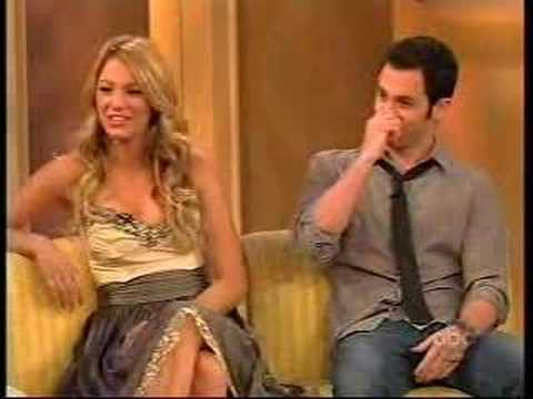 Blake Lively and Penn Badgley on The View 112007