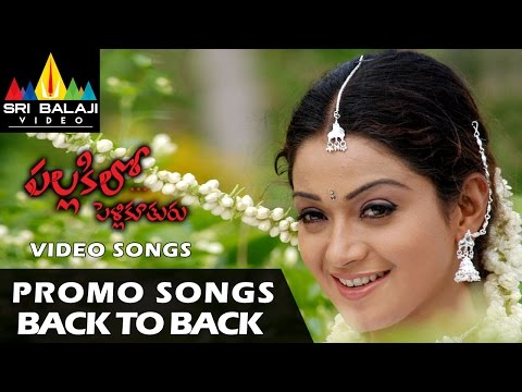 Pallakilo Pellikuthuru Video Songs | Back to Back Promo Songs | Gowtam, Rathi | Sri Balaji Video