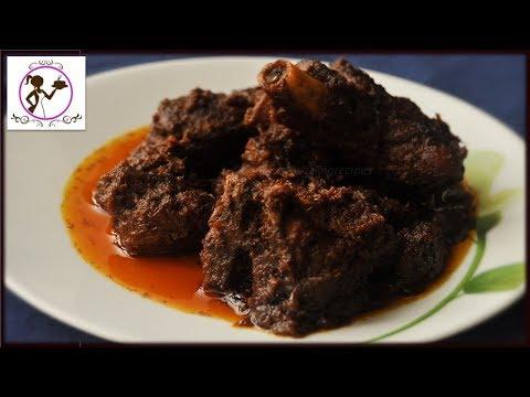 Golbarir Kasha Mangsho Recipe | Bengali Kasha Mangsho Recipe | Bengali Mutton Kosha