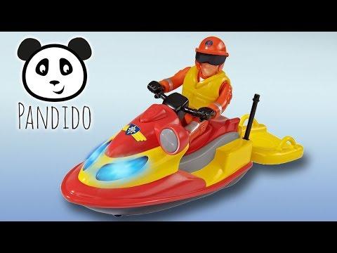 ⭕ FEUERWEHRMANN SAM Juno Jetski Unboxing Review - Spielzeug ausgepackt und angespielt - Pandido