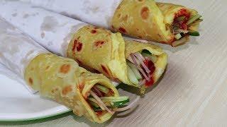 """কলকাতার বিখ্যাত """"এগ রোল"""" রেসিপি/Egg Roll Recipe Bengali Style/Egg Roll Bangladesh/Anda Roll/Veg Roll"""
