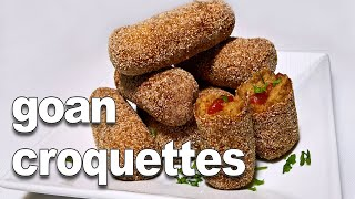 Goan Beef Croquettes - YouTube | Easy and Tasty Goan Snack Recipe ||*Fatima Fernandes | Beef Snack
