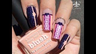 Heart & Lace Nail Art