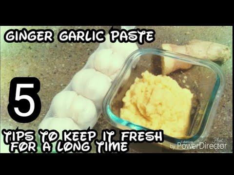 how to make ginger garlic paste in tamil