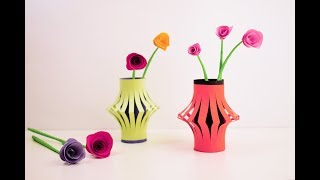 Origami Vase | How to make (flower pot)