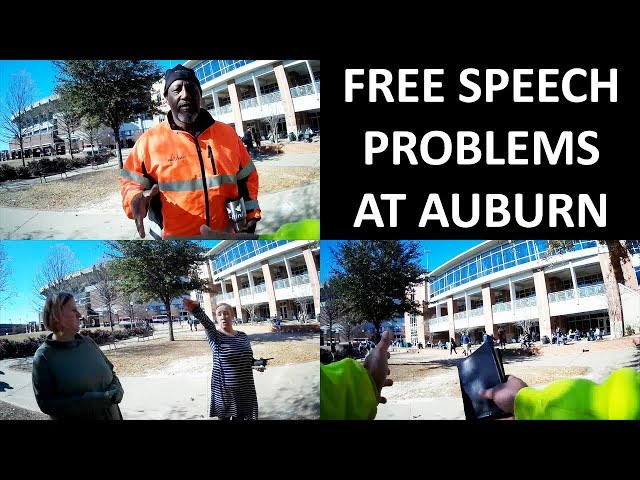 A Man Touched & Free Speech Issues at Auburn University - Open Air Preaching - Kerrigan Skelly