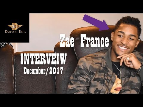 Zae France - Interview (Up & Coming R&B Artist) December 2017