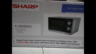 SHARP R-20A0(S)V 20L MICROWAVE OVEN UNBOXING.
