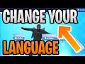(Updated 2019) How To Change Your Fortnite Language (Season 9-10) To English - PC/Mac/Mobile/PS4